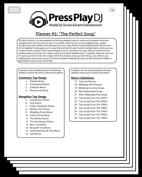 PressPlayDJ - Wedding Music Planners